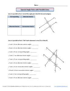 Parallel Lines And Transversals Worksheets. Worksheets. Releaseboard Free printable Worksheets