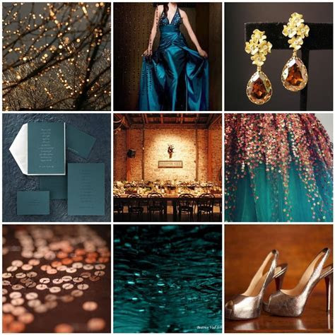 Colors   Teal and Copper So when I renew my vows, these