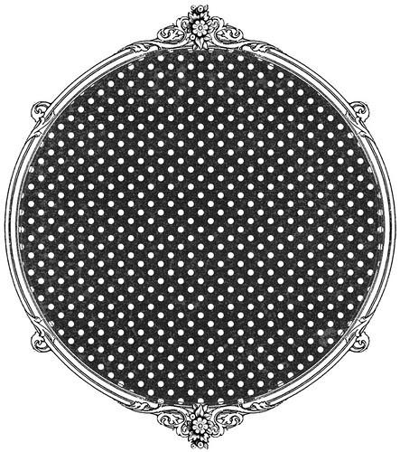 chalkboard tiny distressed polka dot paper SAMPLE