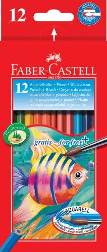 fabercastell 114413  farbstift kinder aquarell 12er