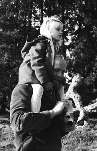 Paul Lee with daughter in 1967