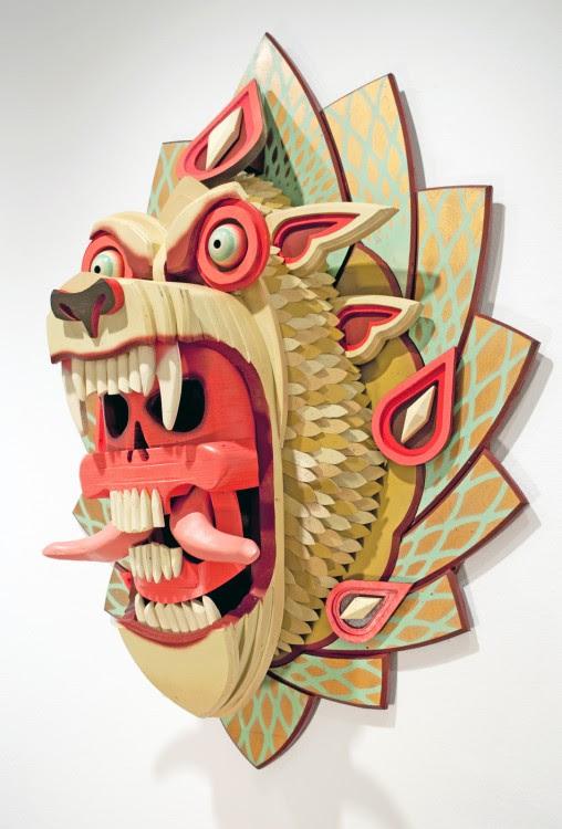 masque aj fossik 08 508x750 Les monstres en relief dAJ Fosik  art