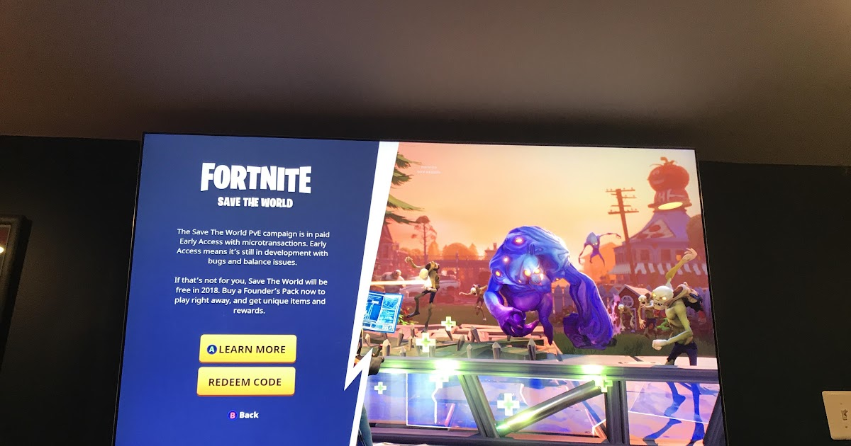 Redeem Code For Fortnite Save The World Ps4 2019 ...