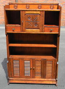 Vintage Solid Cherry Kitchen Dining Country Hutch Display ...