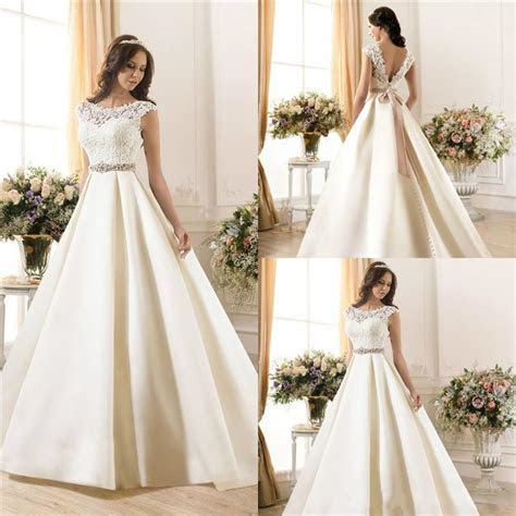 Discount New Arrival Sheer Lace 2015 Wedding Dresses A