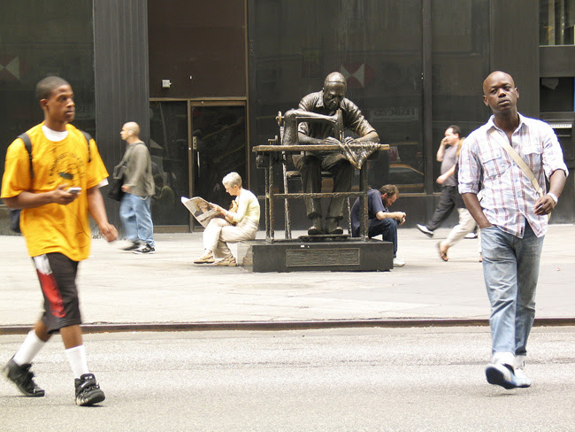 Garment District Tailor Statue, NYC