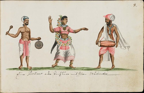 17th century musician trio from India