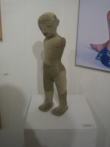 Figure #1 by Samuelle Richardson, Fabric over amature, Green - Berkeley Art Center Member Show 2010 _ 9414
