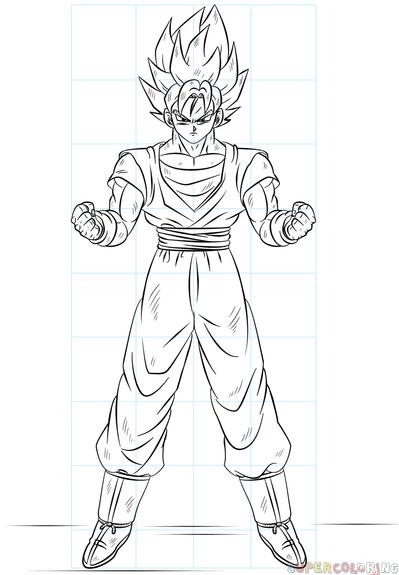 Wie Zeichnet Man Goku Super Saiyan Zeichnen Lernen Schritt Fur Schritt Fur Kinder