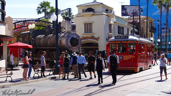 Image result for red car trolley disneyland california