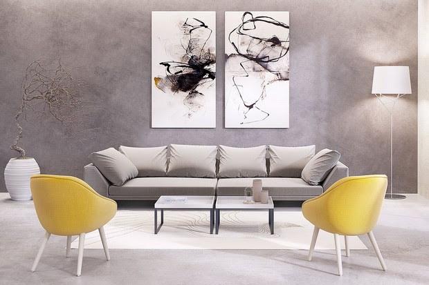 Design Inspirations - Artwork For Your Modern Living Room