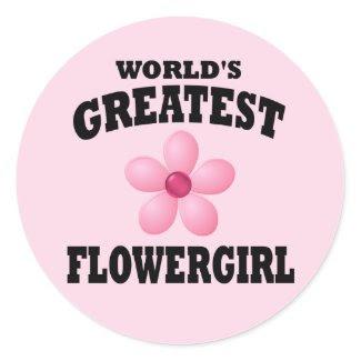World's Greatest Flowergirl sticker