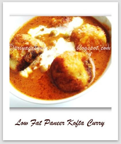 Low fat paneer Kofta Curry