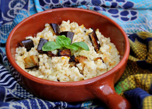 Aubergine & Lemon Risotto 1
