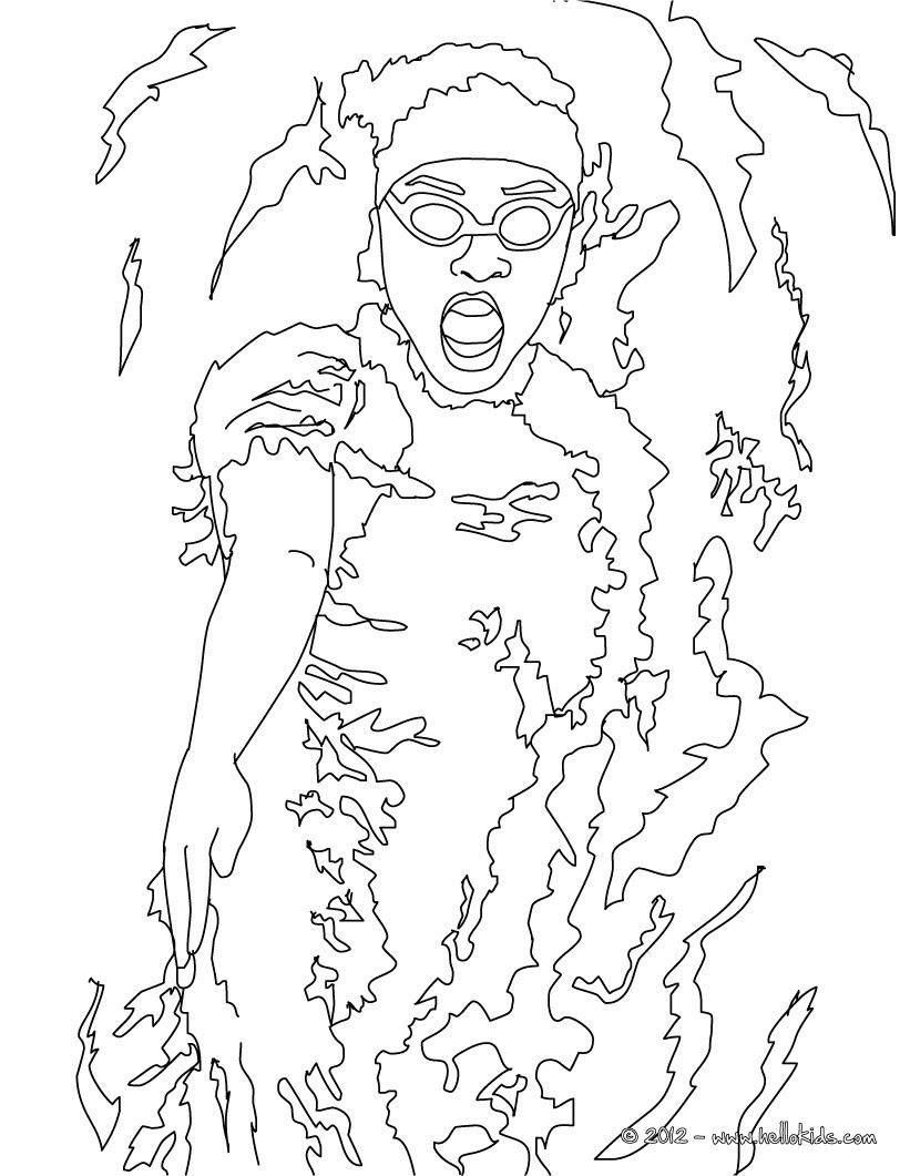 BACKSTROKE swimming sport coloring page
