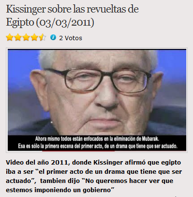 Las citas de Kissinger sobre las revueltas en Egipto