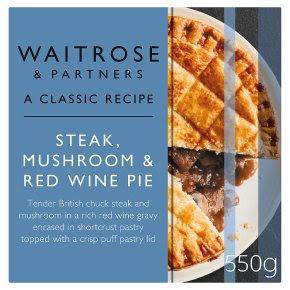 Waitrose steak, mushroom & red wine pie - Waitrose