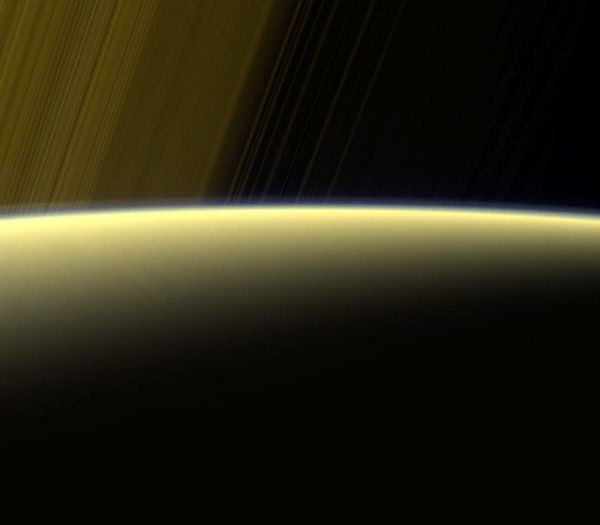An image of Saturn that was taken by NASA's Cassini spacecraft on July 16, 2017...from a distance of 777,000 miles (1.25 million kilometers) away.