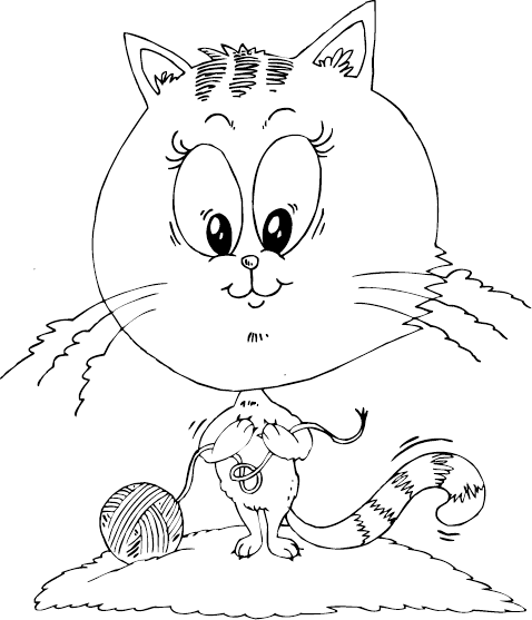 cat with big head coloring page - coloring.com