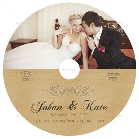 Wedding DVD Cover and DVD Label Template Vol.6 by