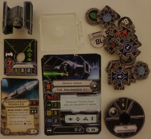 Star Wars X-Wing Miniatures Game TIE Advanced Expansion