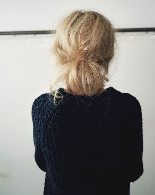 Le Fashion Blog Hair Inspiration Low Messy Bun Textured Wavy Up Do Waffle Knit Sweater Camilla Pihl photo Le-Fashion-Blog-Hair-Inspiration-Low-Messy-Bun-Textured-Wavy-Up-Do-Waffle-Knit-Sweater-Camilla-Pihl.jpg