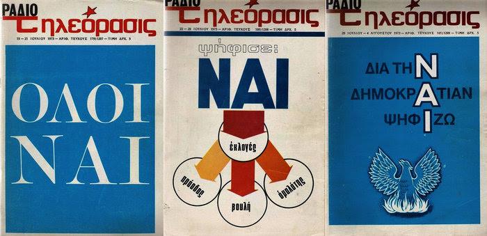 Αφίσσα για το Δημοψήφισμα του 1973