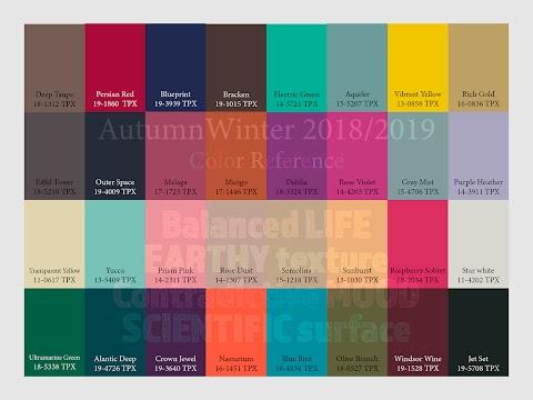 Forecast 2019 Colour Trends 2020