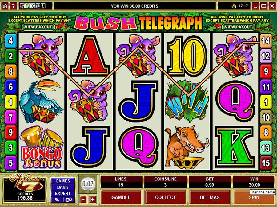 Онлайн играть бесплатно онлайн на игровом автомате bush telegraph лесной телеграф пин