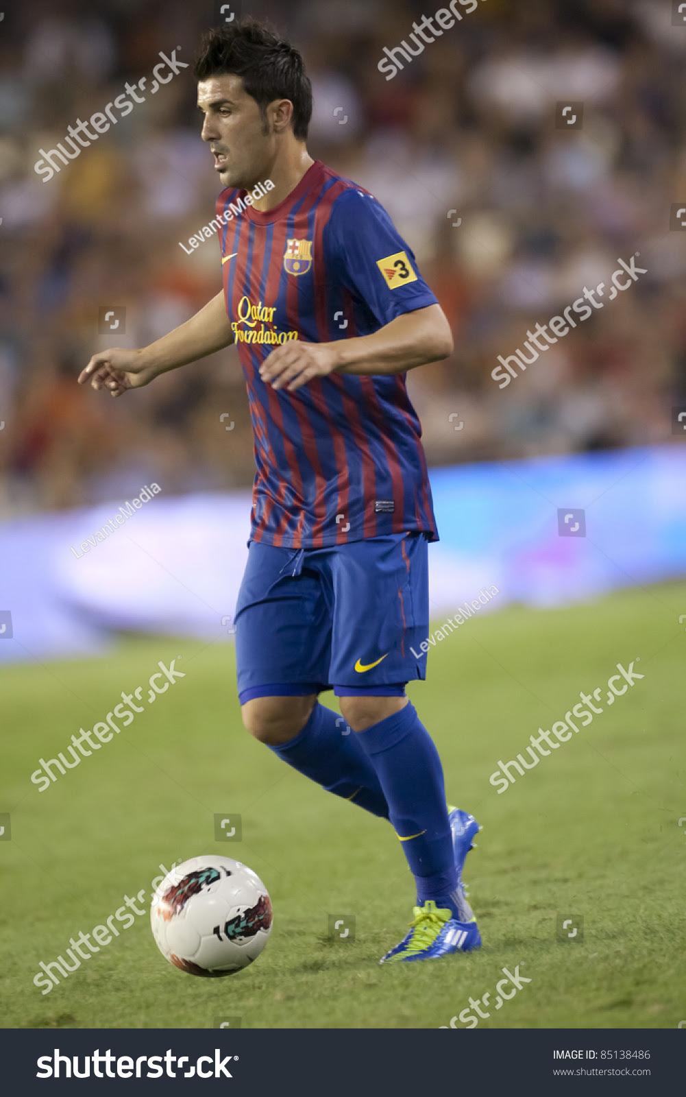 Valencia, Spain - September 21: David Villa In The Spanish ...
