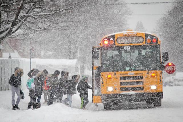 Les conditions routières se sont avérées chaotiques en... (PHOTO DAVID BOILY, archives LA PRESSE)