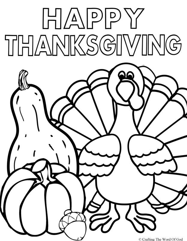 Easy Thanksgiving Coloring Pages at GetDrawings | Free ...