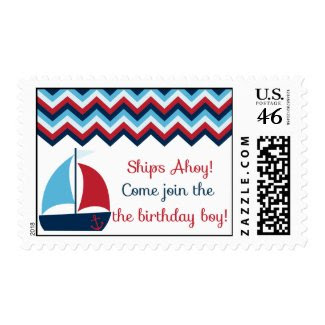 Sailboat Birthday Postage