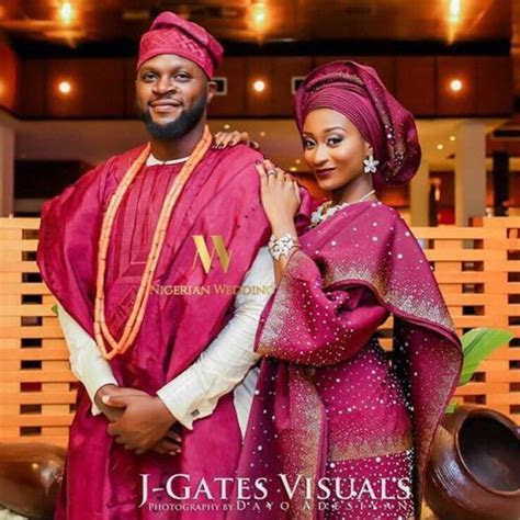 Image result for champagne gold and wine aso ebi   Wedding