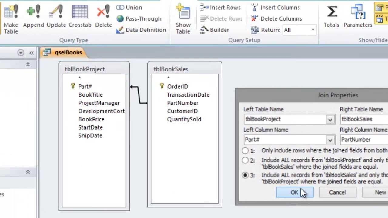 how to create a query in access 2010 with criteria