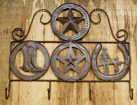 Rustic Metal Western Hook Hanger - Western Decor - Home Decor