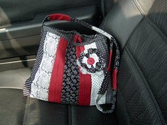 BlackWhite and Red Purse