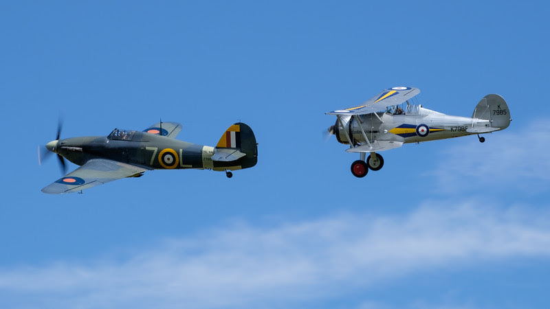 Hawker Hurricane and Gloster Gladiator