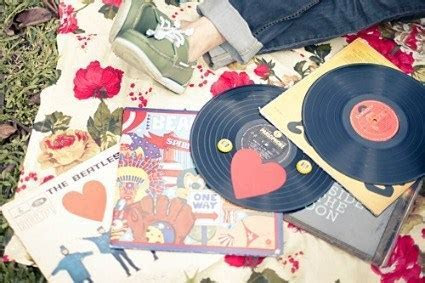 Rock Your Wedding with Old LP?s ? DIY Weddings