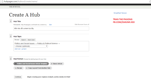 kenhkienthuc.net - TUT reg GA (Google AdSense) từ HubPages