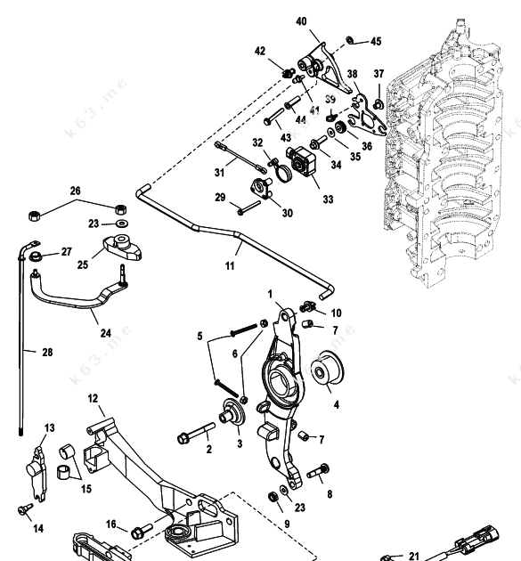 35 Mercury Outboard Throttle Cable Diagram