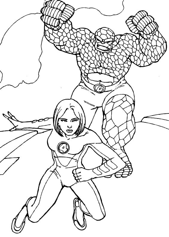 Dibujos Para Colorear Mujer Invisible Pintar E Imprimir 4 Superhéroes
