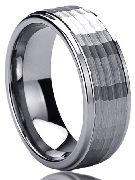 Men Women 8mm Mens Tungsten Comfort Fit Wedding Band Ring