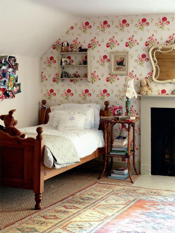 A dear little attic bedroom
