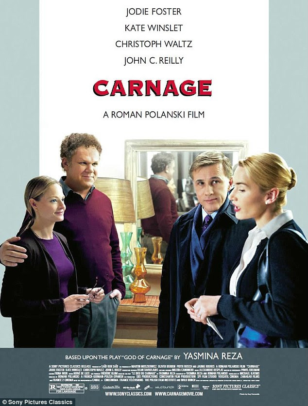 Pesos pesados: O elenco de Carnage inclui vencedores Oscar Jodie Foster, Christoph Waltz, Kate Winslet e anteriores indicado ao Oscar John C. Reilly