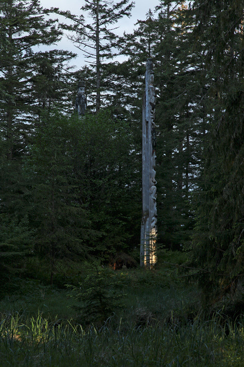 late afternoon light in Totems Historic District, Kasaan, Alaska