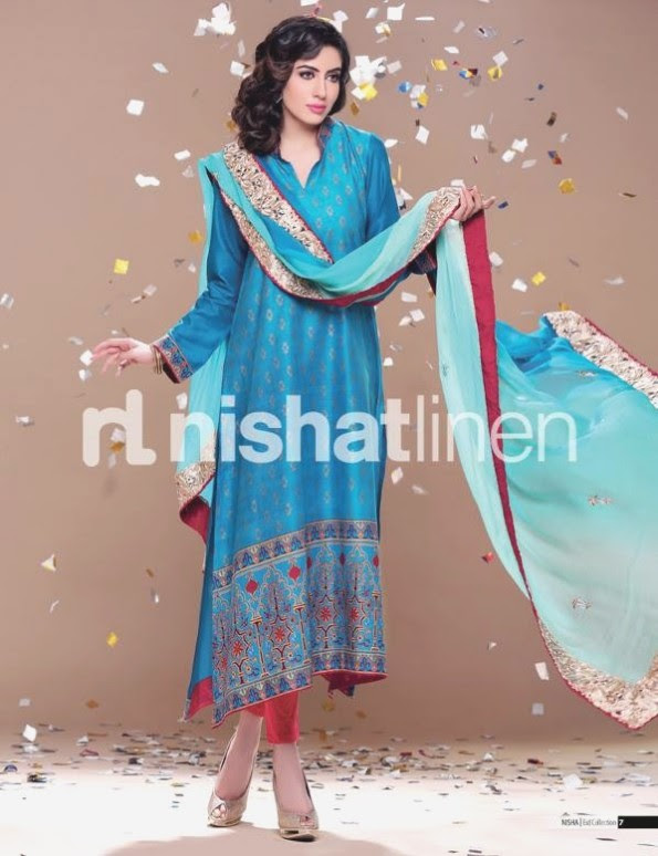 Nishat-Linen-Eid-Dress-Collection-2013-Pret-Ready-to-Wear -Lawn-Ruffle-Chiffon-for-Girls-Womens-