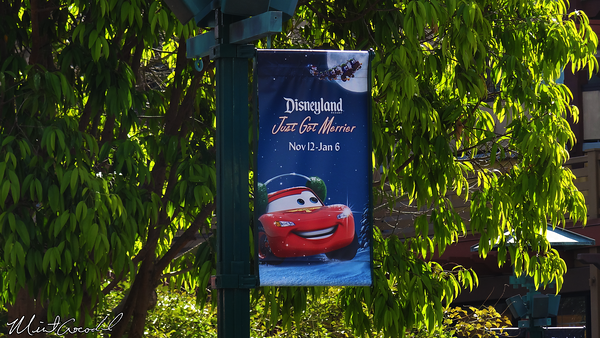 Downtown Disney, Disneyland Resort, Christmas, Cars Land, Banner