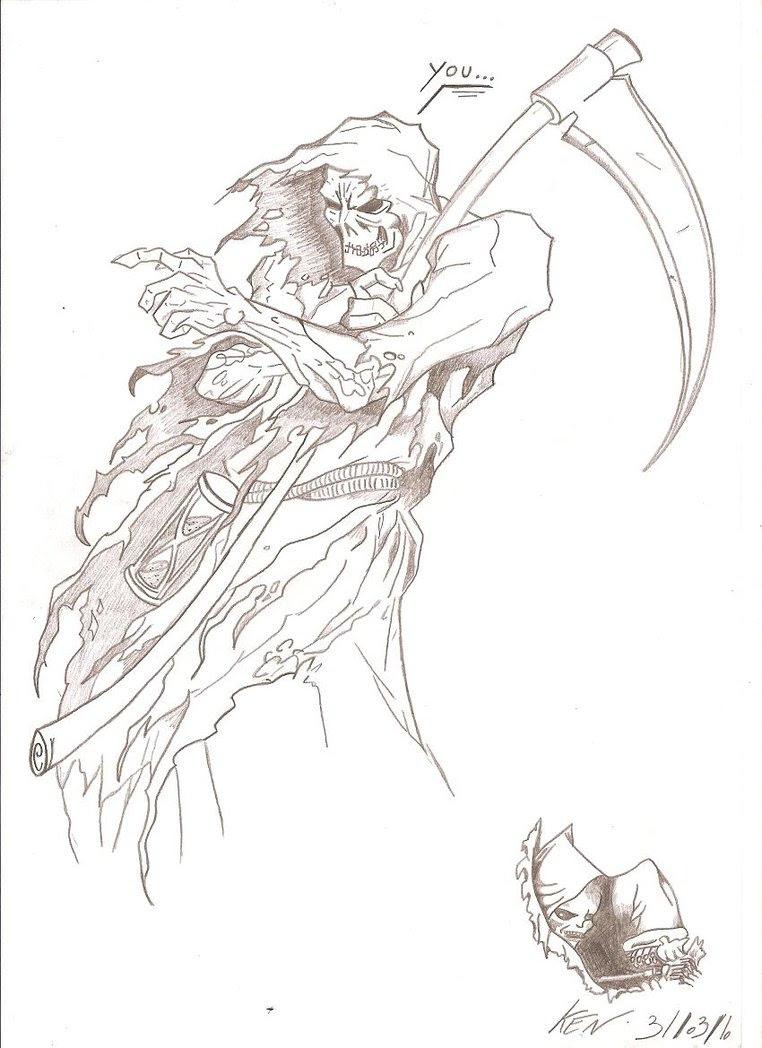 Grim Reaper Drawing Sketch Drawing Skill