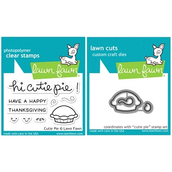 Lawn Fawn SET SULF16SETCP CUTIE PIE Clear Stamps and Dies